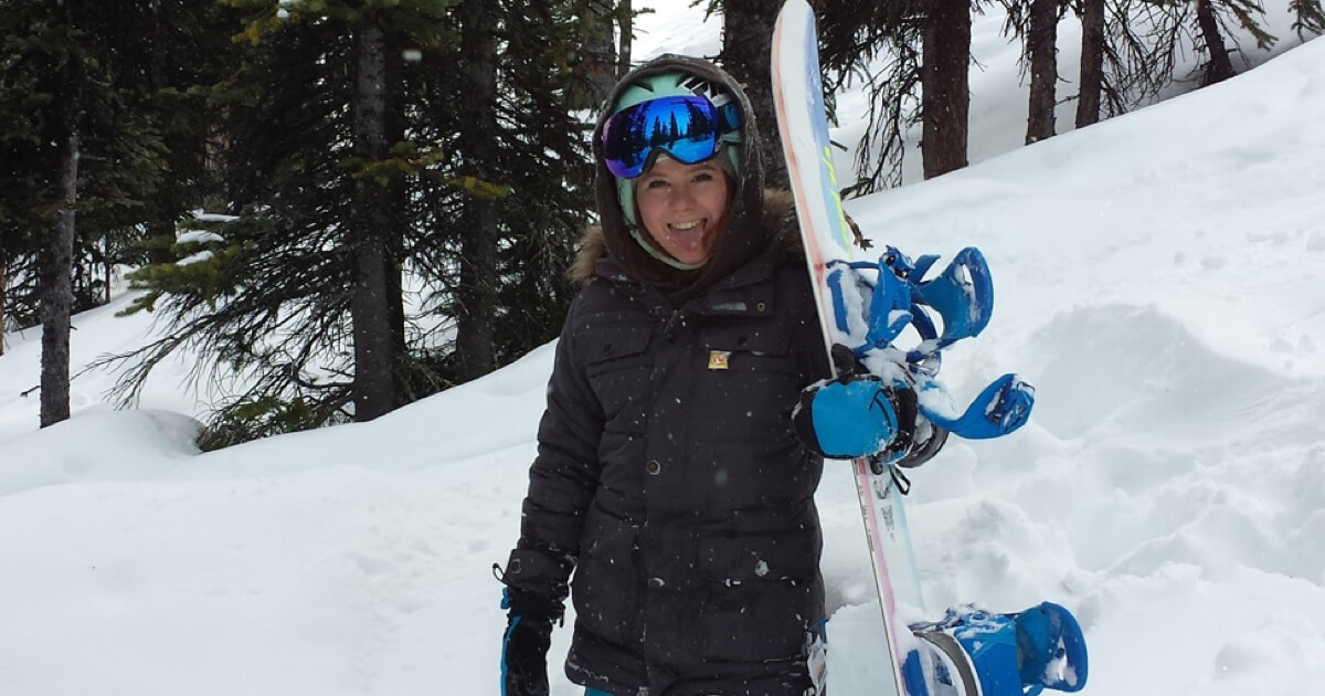 Hannah in Deep Powder at Marmot Basin