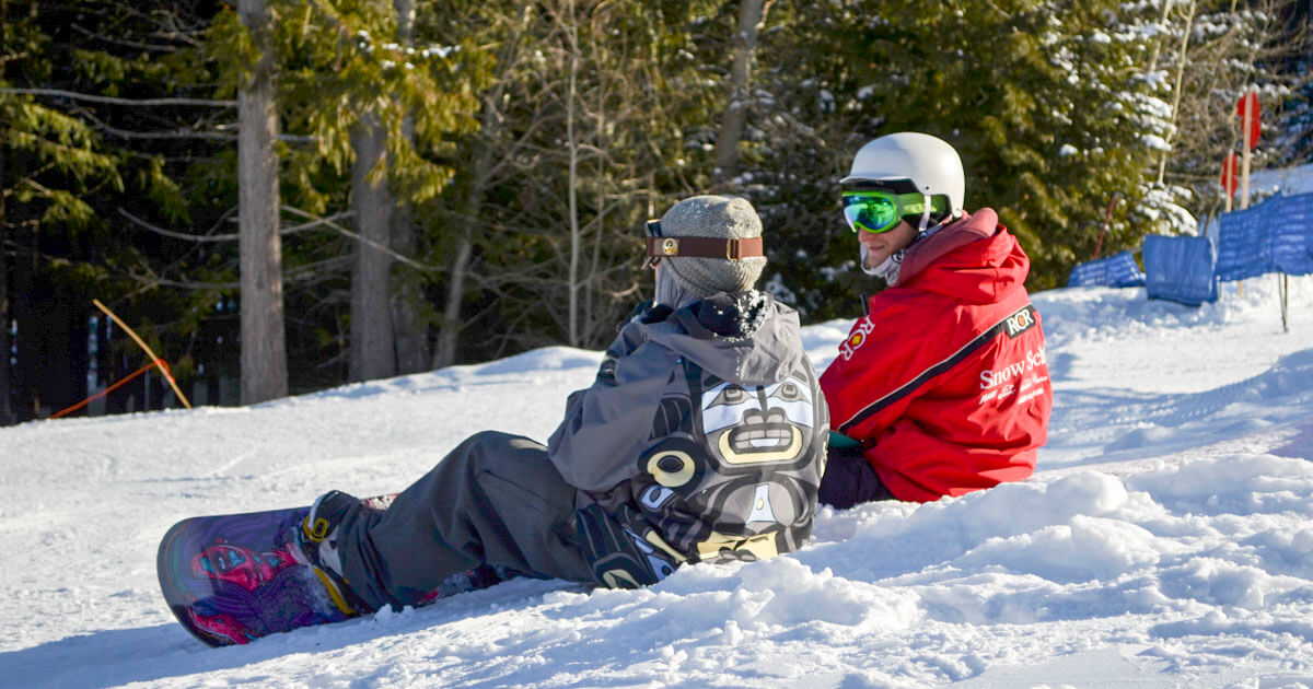 Snowboard Instructor Meets Client