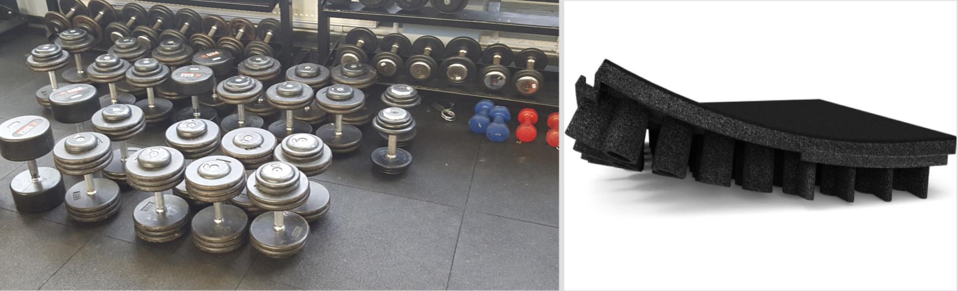rubber sportsfloor fitness flooring tiles sofsurfaces