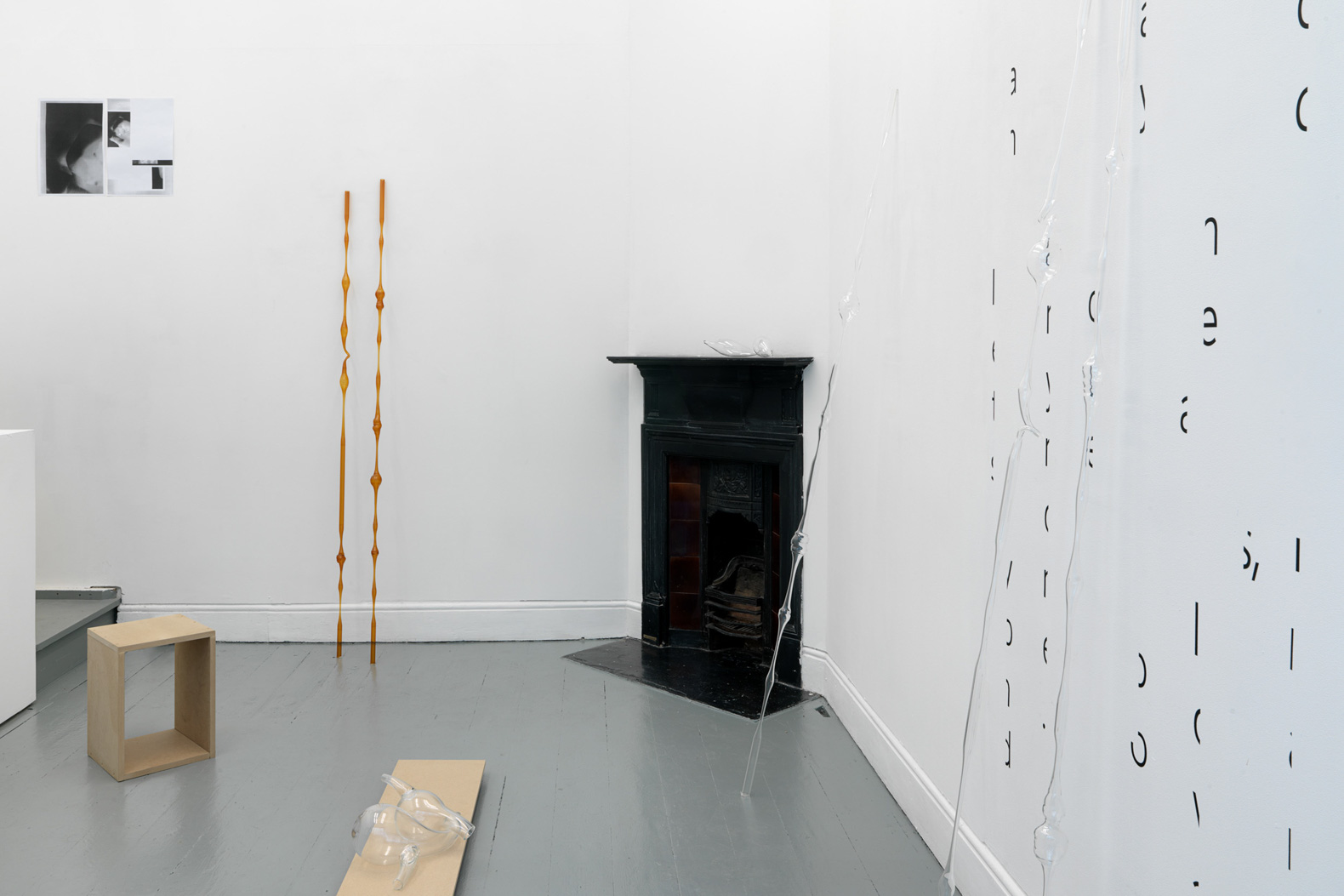 Installation view. 'Haptic Skins of a Glass Eye', 2015.