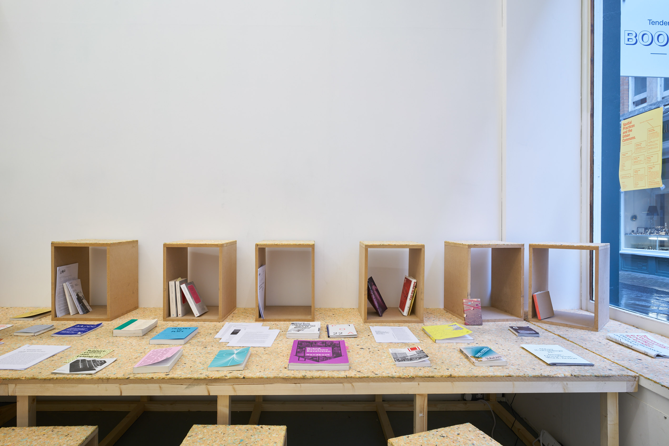 Installation shot, research library. Photo by Original&theCopy. Tenderpixel Gallery.