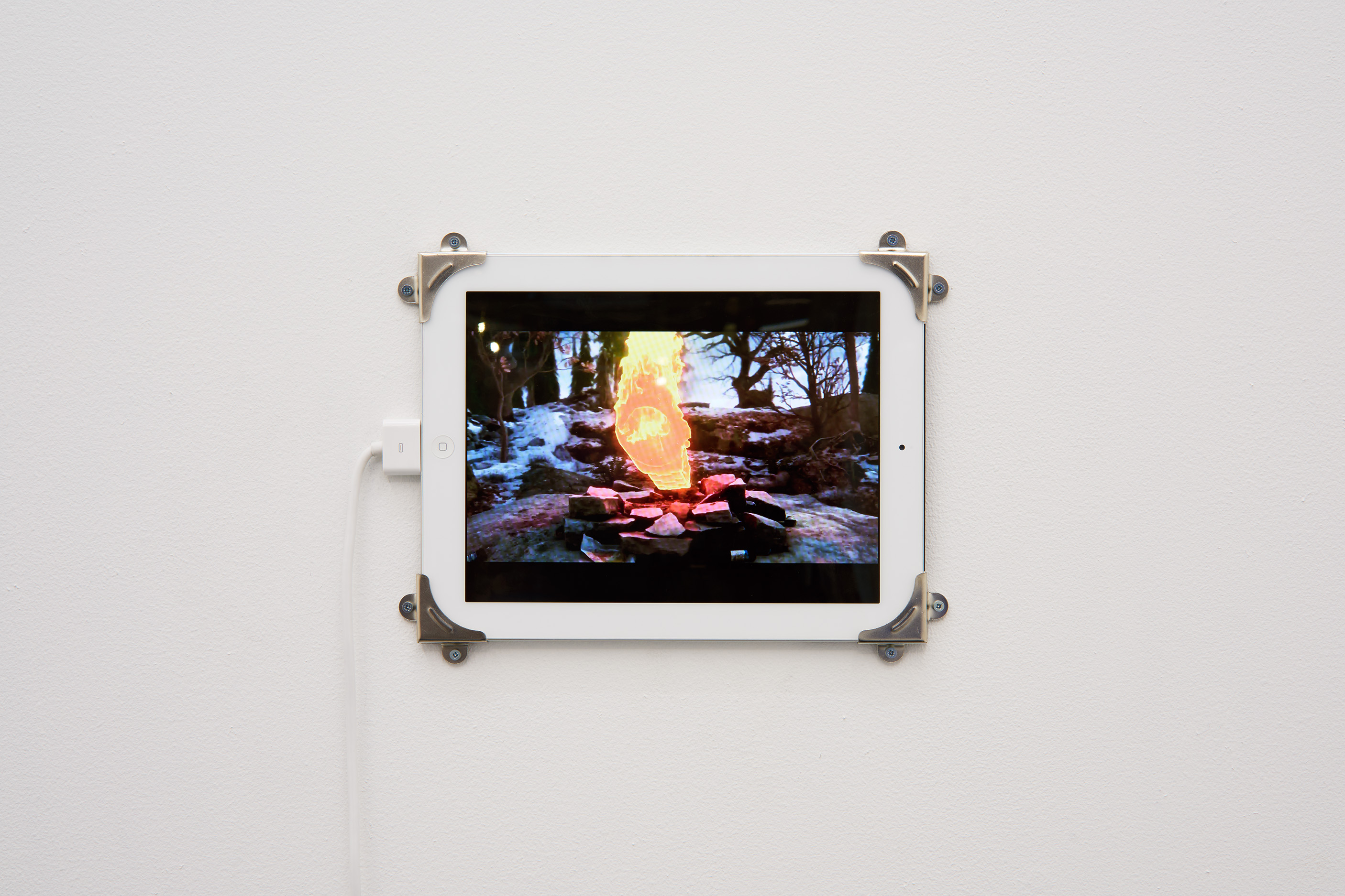 Rustan Söderling, Fire Gazing,2016. Installation view. Tenderpixel.