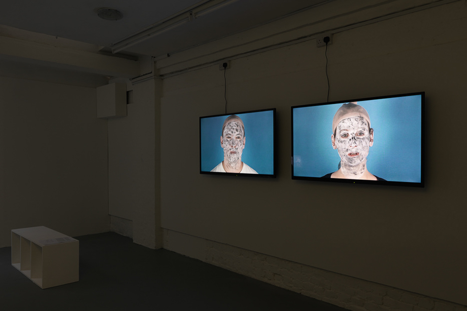 Anja Kirschner and David Panos, Uncanny Valley. Installation view. Courtesy of Hollybush Gardens and Tenderpixel.