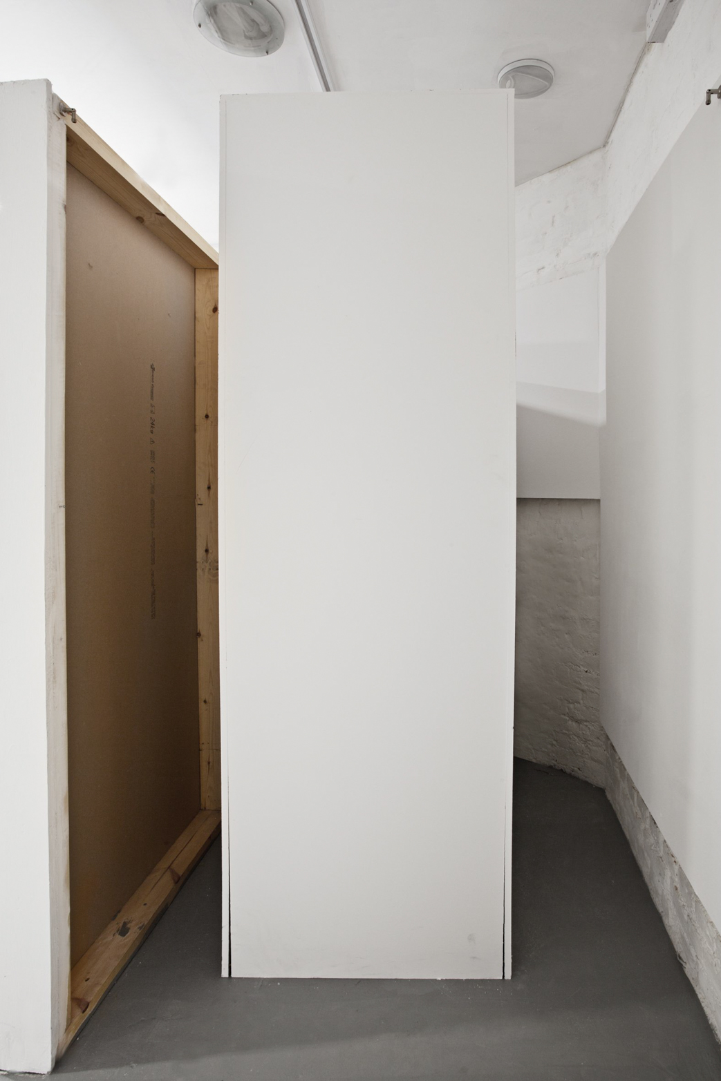 Tomas Chaffe. Approximately 2220 x 810 x 625 mm (The Largest Possible Plinth to Enter the Gallery Space, without Altering the Fabric of the Building, 2013.)