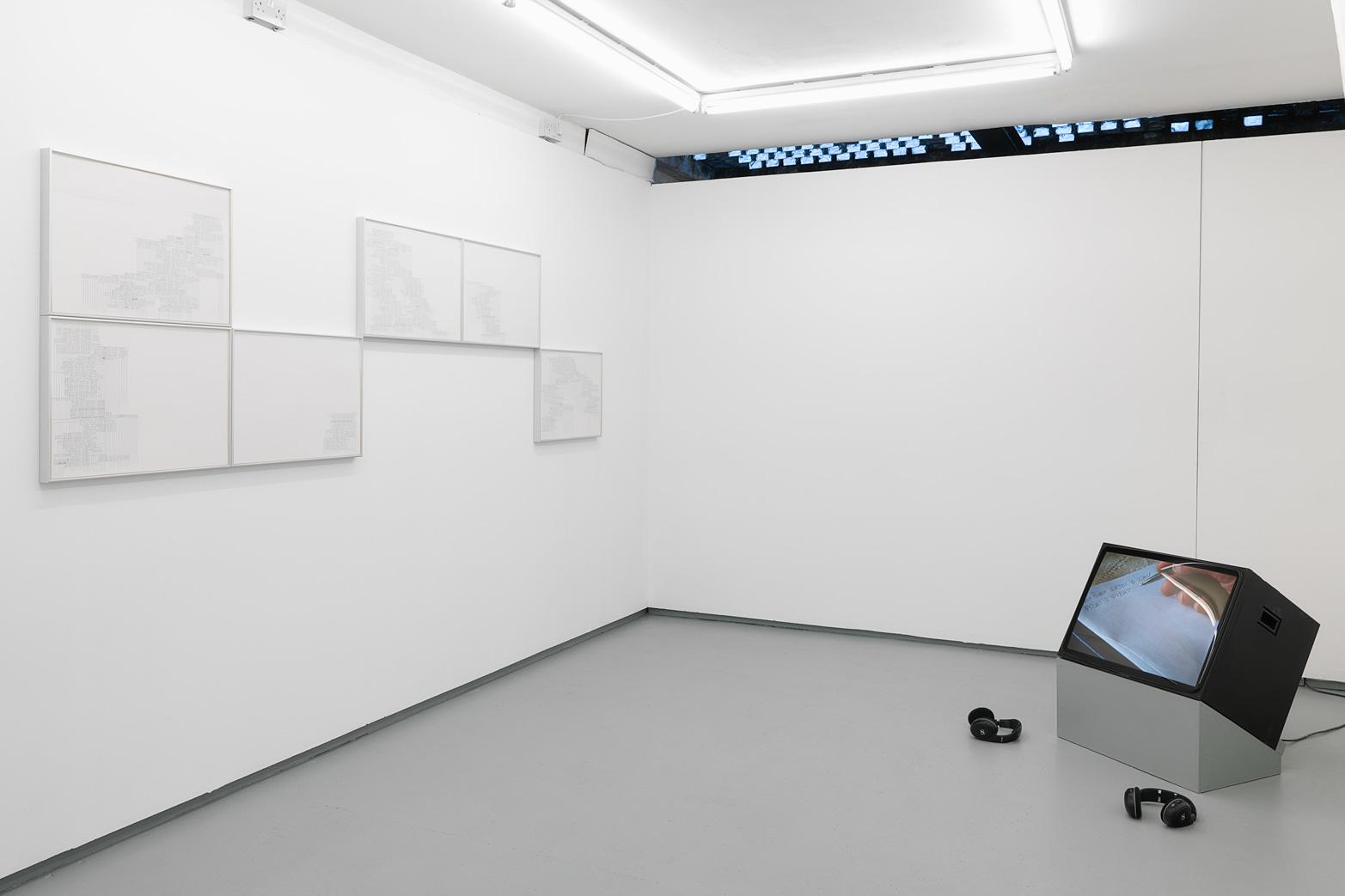Anna Barham, Ampler Tongue Transit, 2012; Katarina Zdjelar, Shoum, 2009. Courtesy of Tenderpixel, Arcade, London and SpazioA, Pistoia.