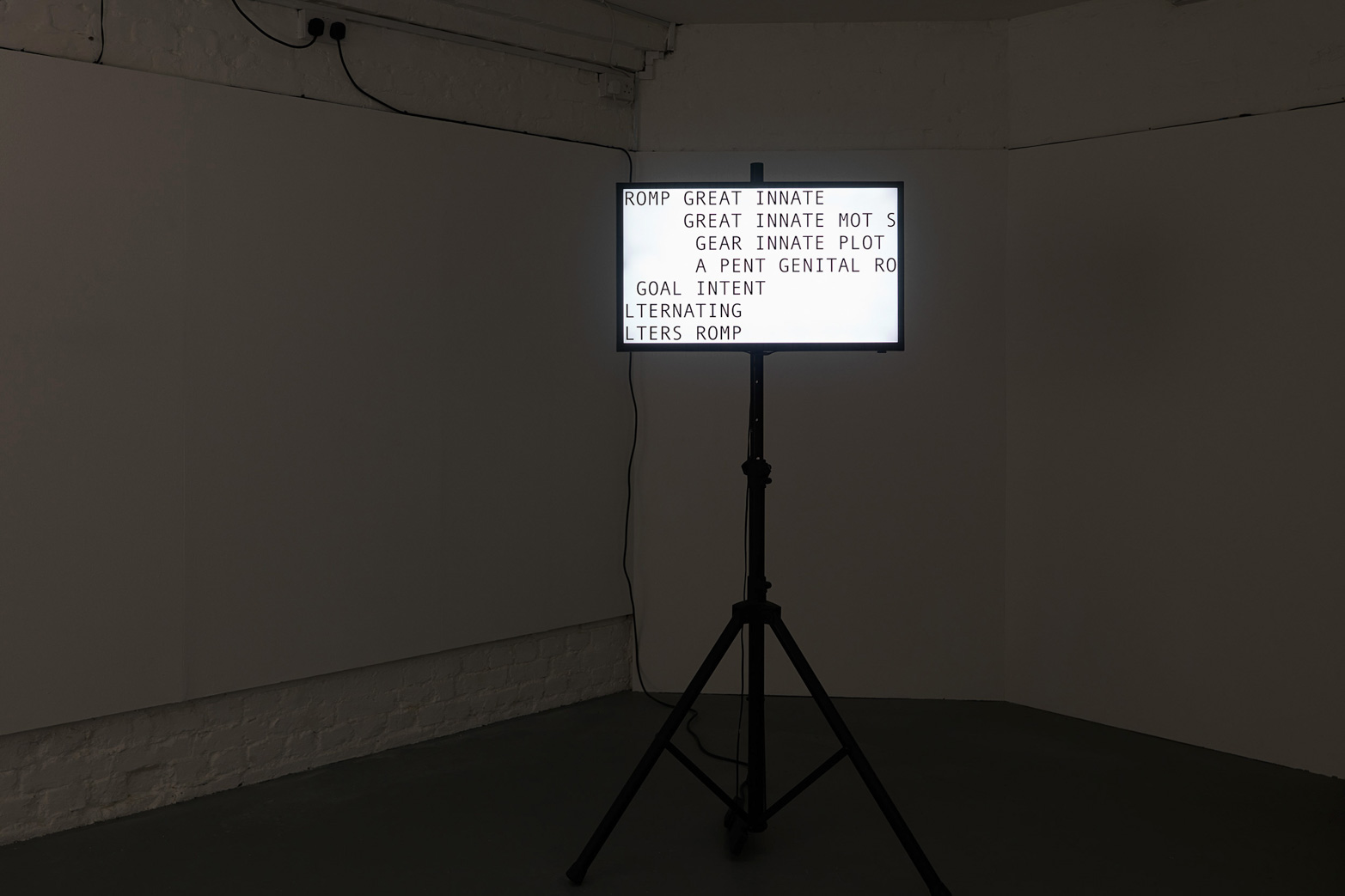 Anna Barham, Argent Minotaur Slept, 2012. Courtesy of Tenderpixel, and Arcade, London.