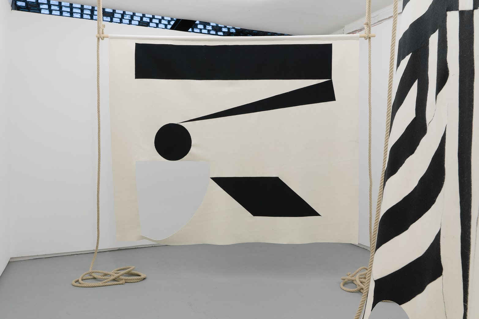 Erika Hock, The Seamstress, Her Mistress, the Mason and the Thief. Installation view. Tenderpixel.