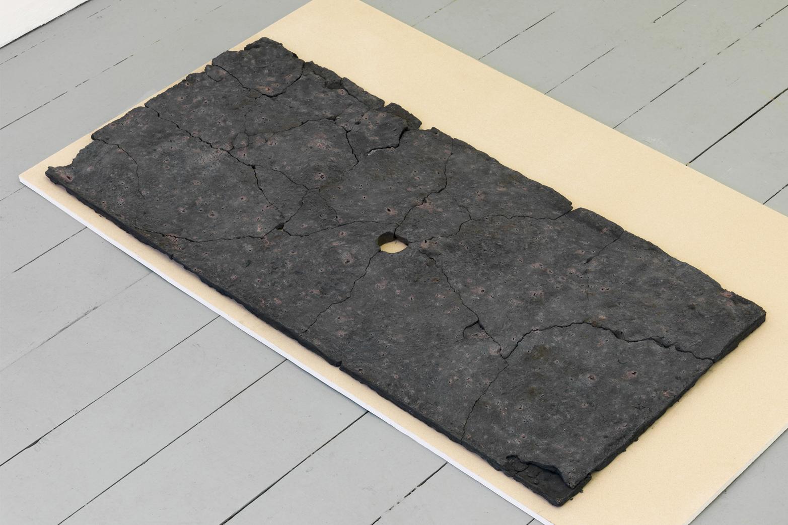 Andrea Zucchini, Site, 2014, iron sulfate, plasterboard.