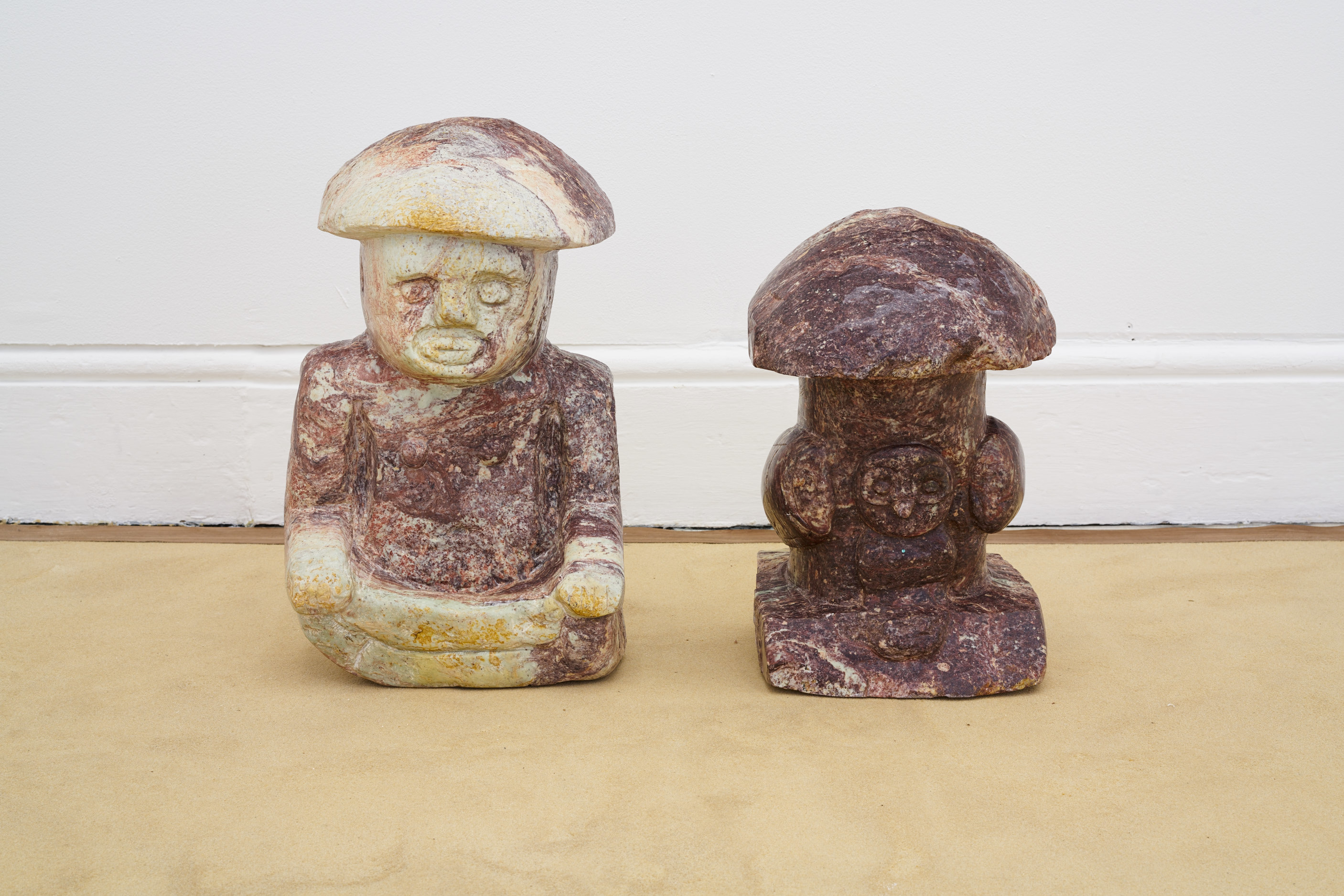 Andrea Zucchini, Twice Born, 2016. Hand carved stone replicas of Aztec artefacts. Tenderpixel.