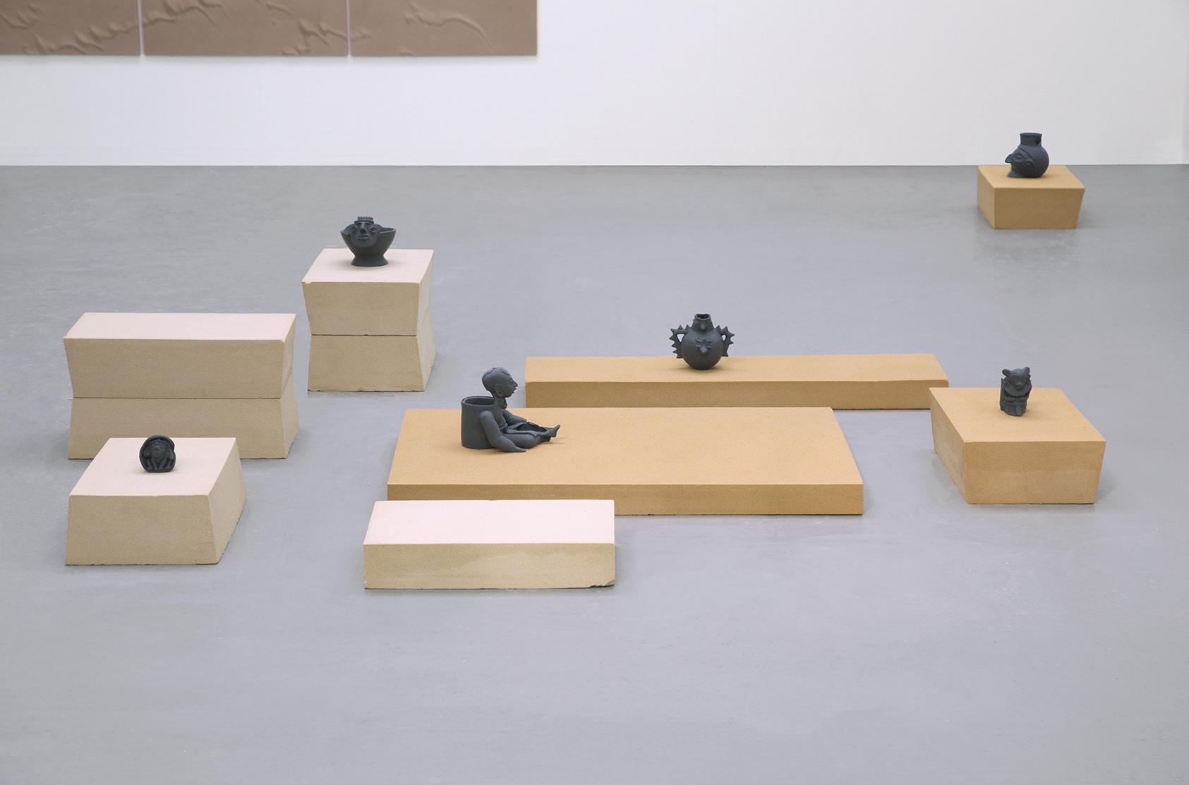 Andrea Zucchini, terra terra, 2015.  3D printed replicas of Mesoamerican artefacts.