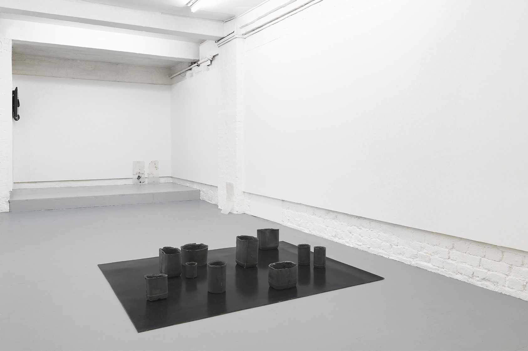 Installation view. Andrea Zucchini, Alchemical Studies, 2014 at Tenderpixel, London.
