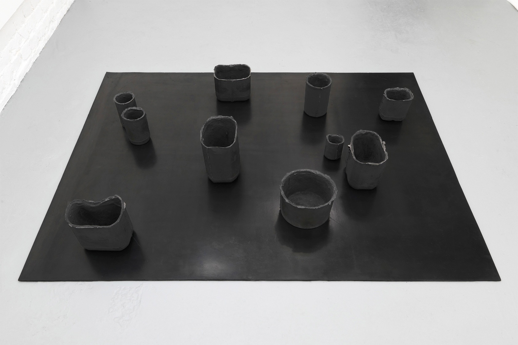 Andrea Zucchini, When Cortes asked... 2014.  Cast iron, testosterone, vulcanised rubber.