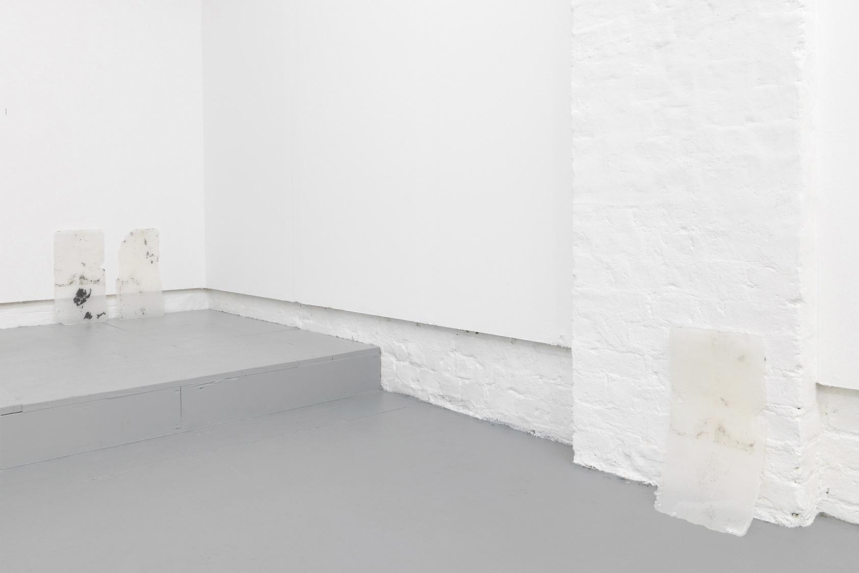 Andrea Zucchini, Untitled, 2014. Glass wax, slate.