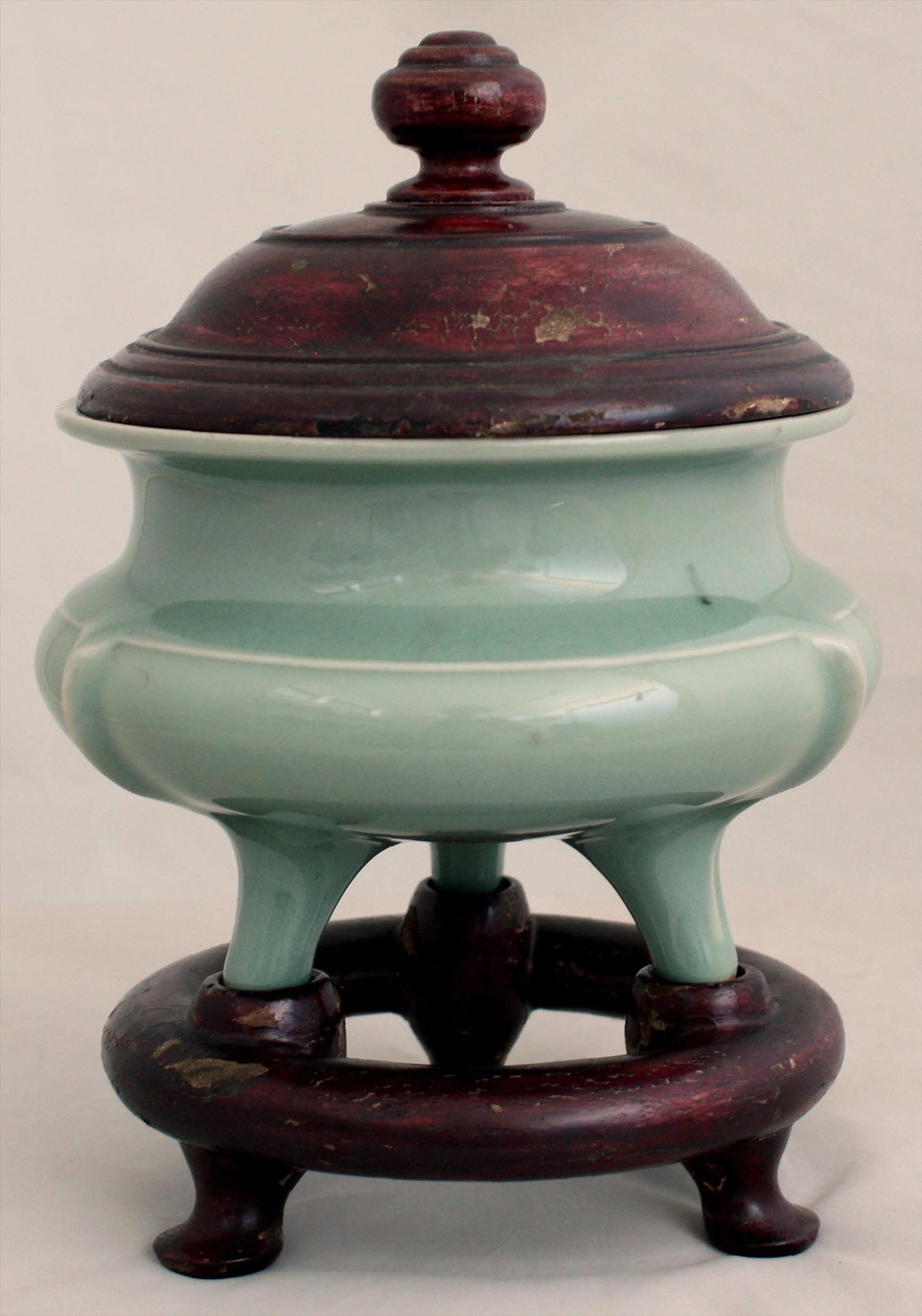 Chinese Southern Song Longquan Celadon Tripod Censer 13th Century