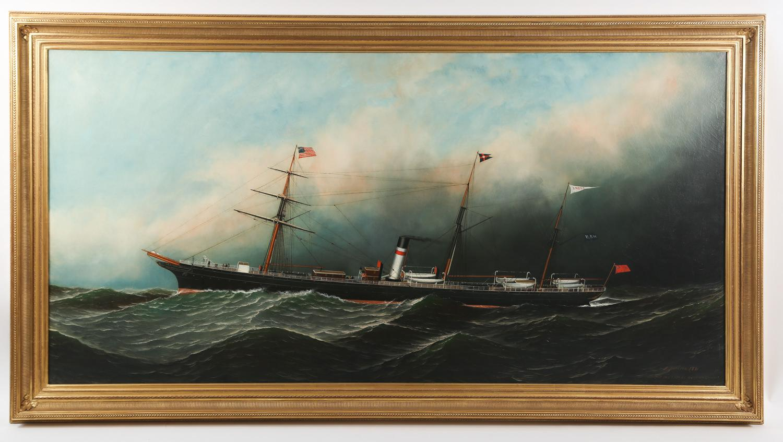 Antonio Jacobsen American/Danish 1850-1921, Andes, Oil on Canvas, 1881