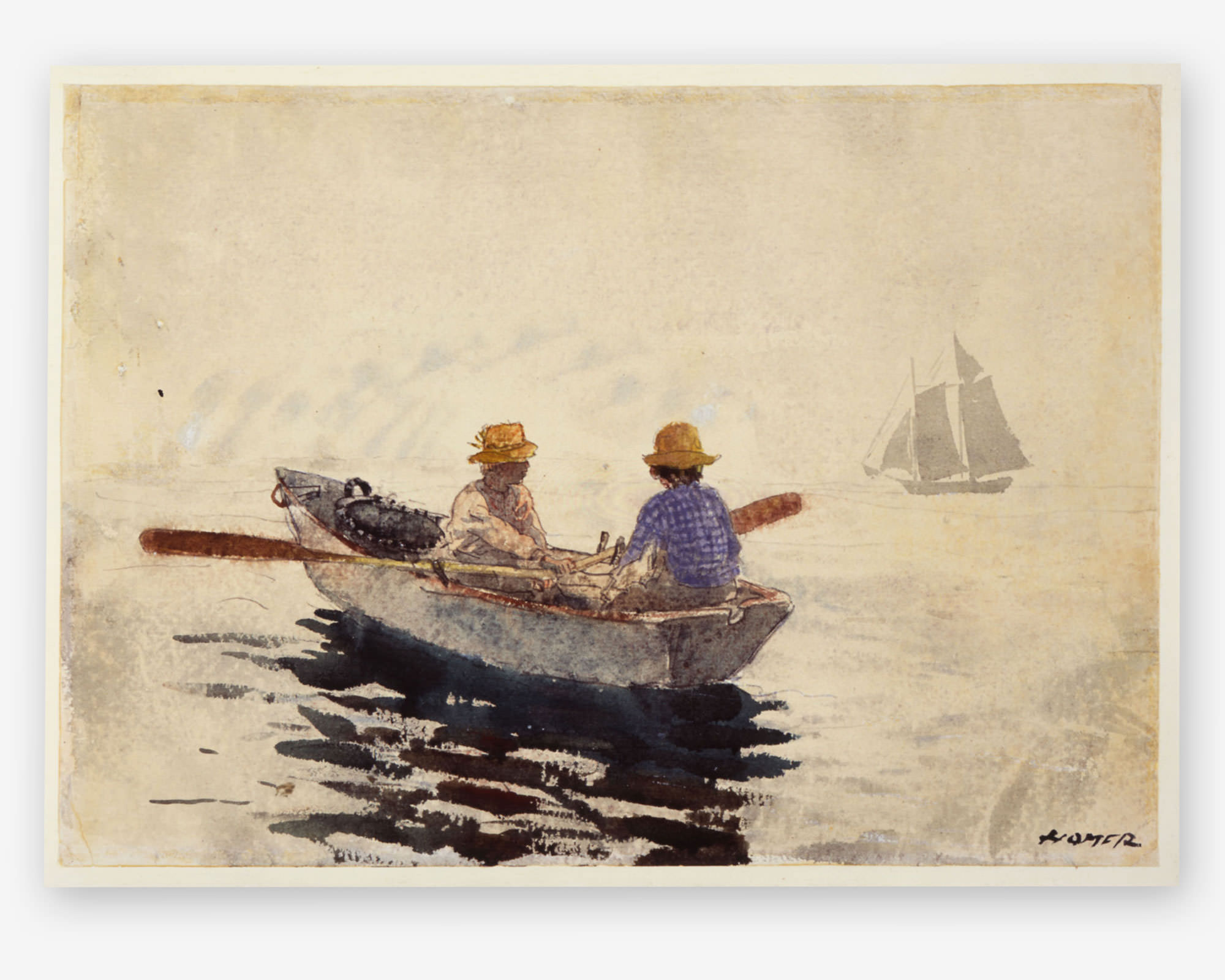 Winslow Homer American 1836-1910 Off Gloucester Watercolor on Paper