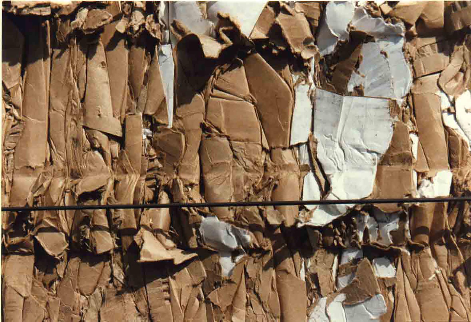 New Double-Lined Kraft Corrugated Cuttings No Dark Medium White Over 20%