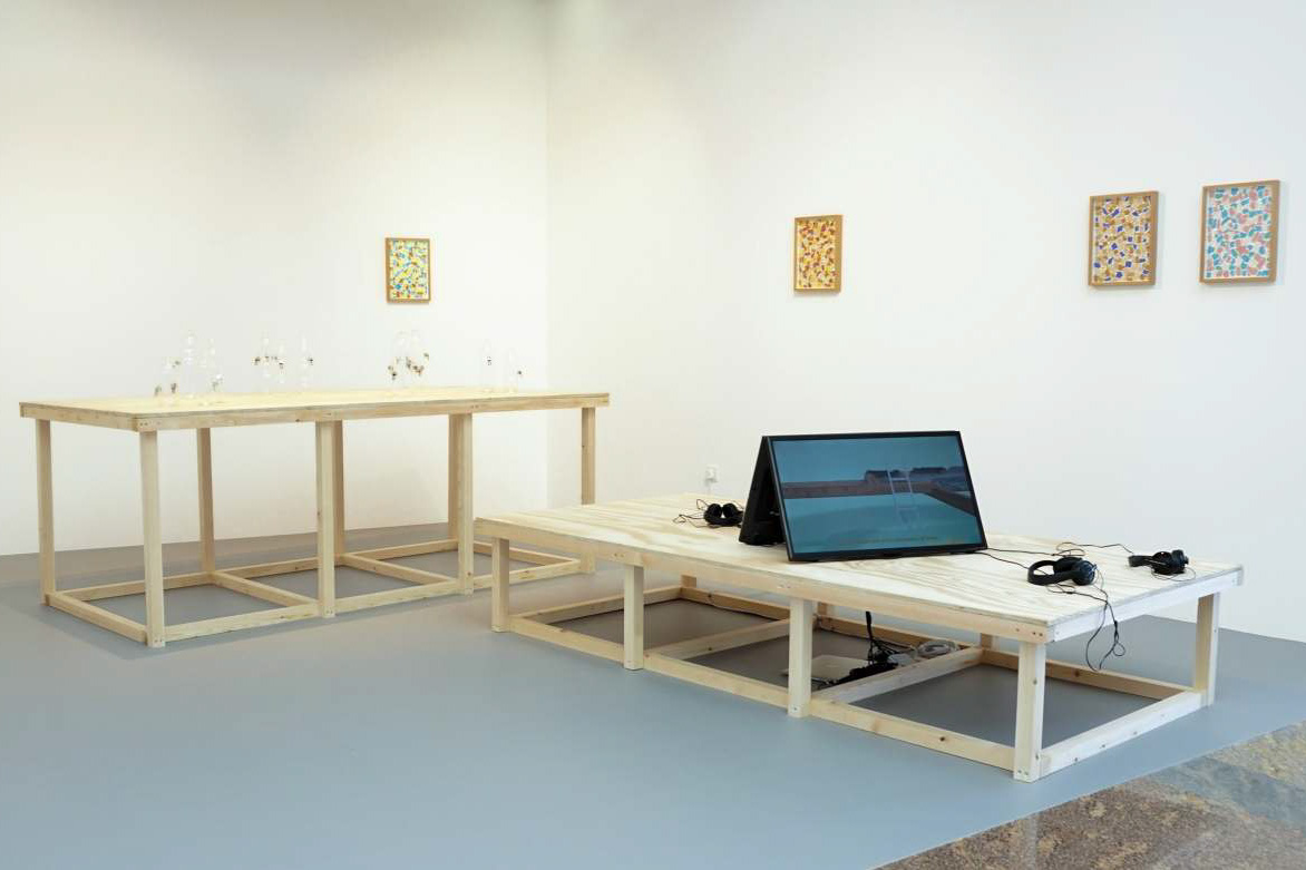 Installation View, Richard Healy, The Pines. ArtInternational 2015, Istanbul. Tenderpixel.