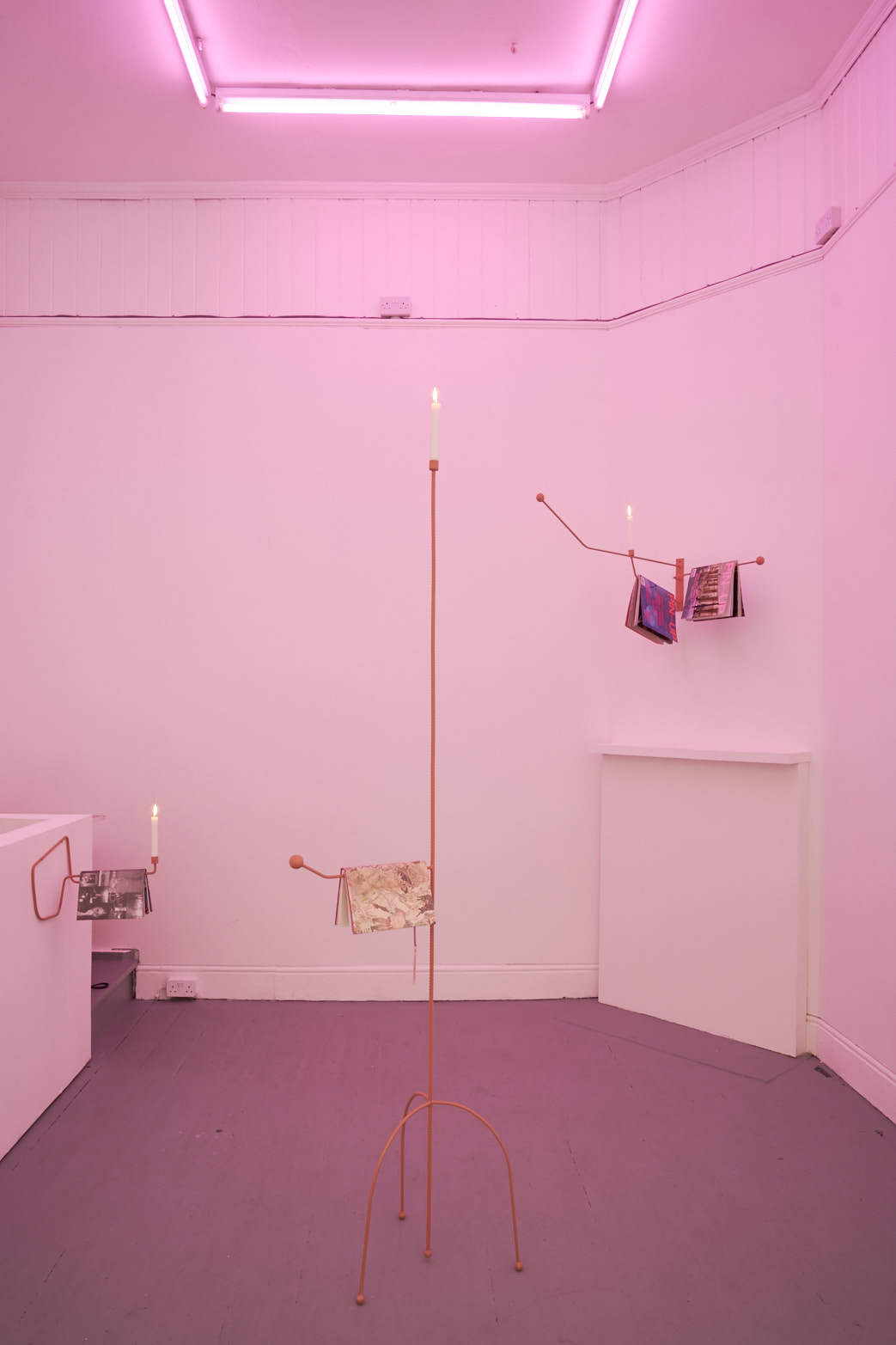 Richard Healy, Lubricants & Literature, 2016. Installation view. Tenderpixel.