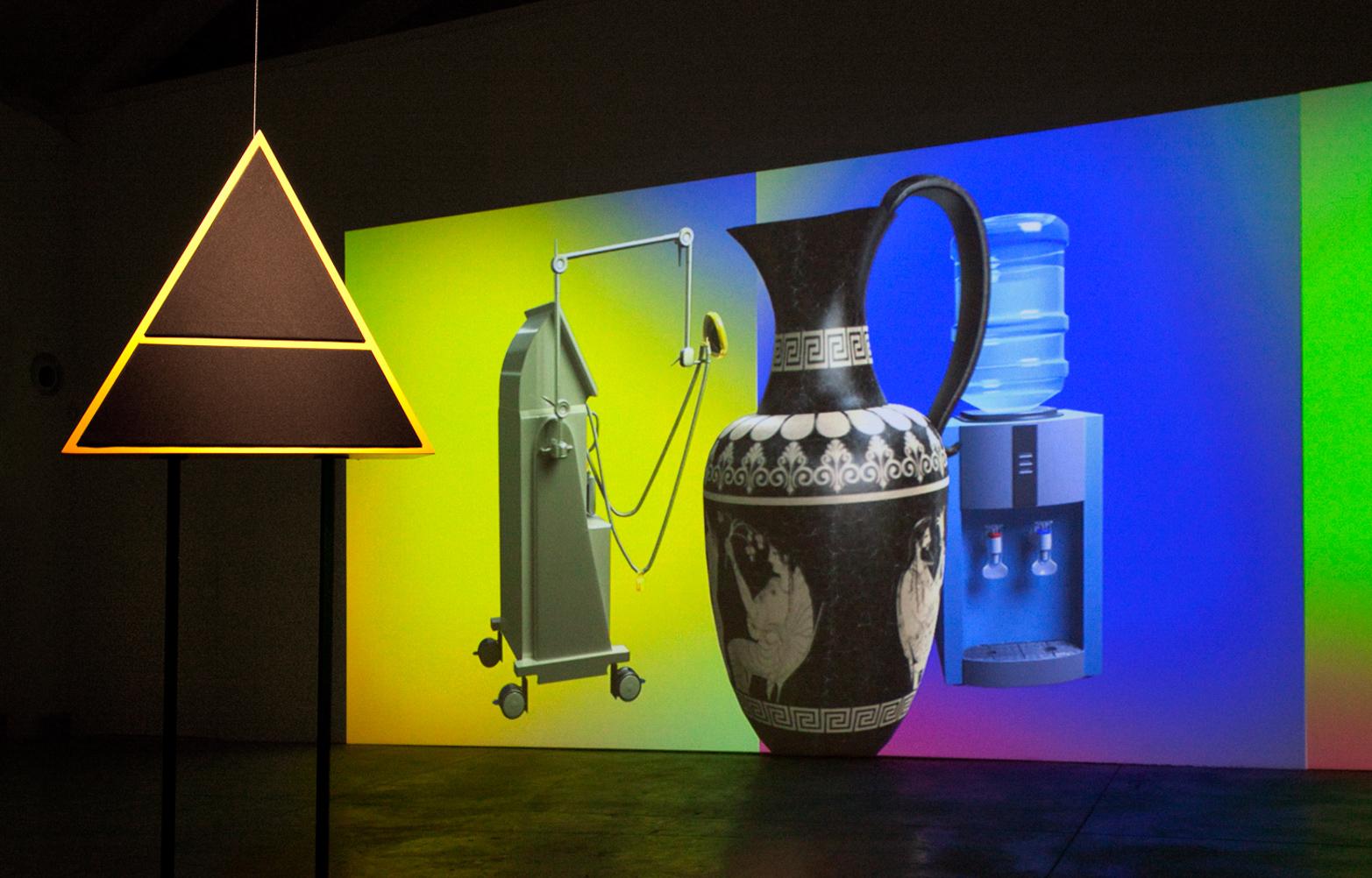 David Ferrando Giraut, SPEECH PROSTHESIS (An Alchemical Conversation), 2014. Digital animation with quadraphonic sound and custom quadraphonic speakers.