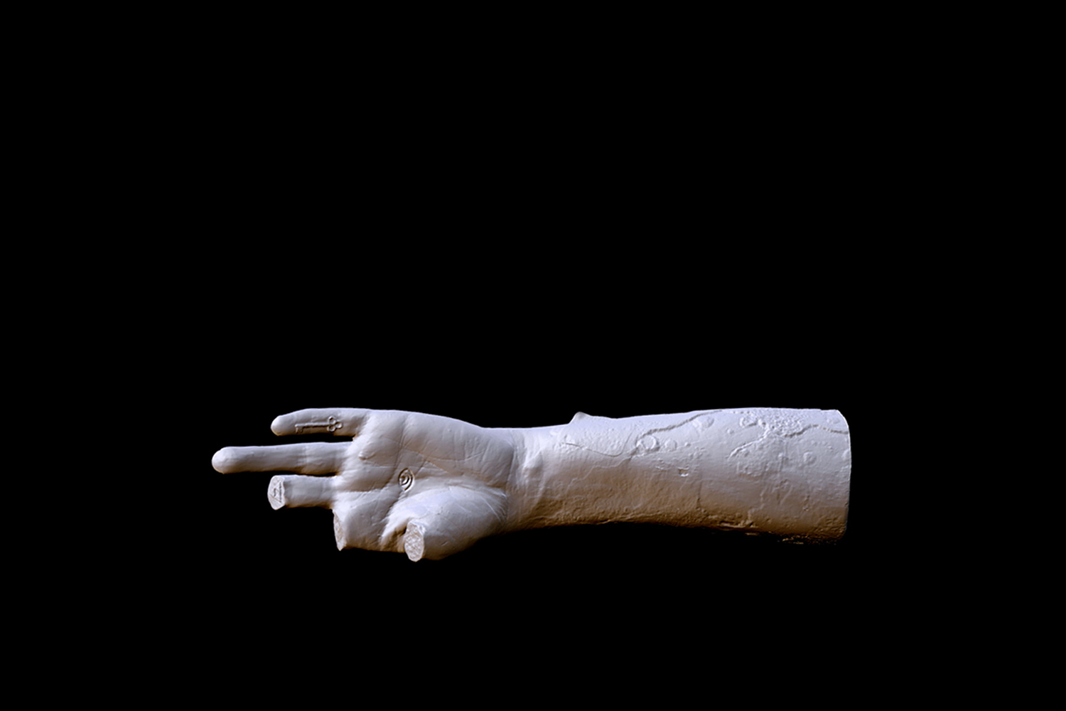 Andrea Zucchini, Participation Mystique, 2016. Video still of CGI animation of scanned and digitally altered artefact.