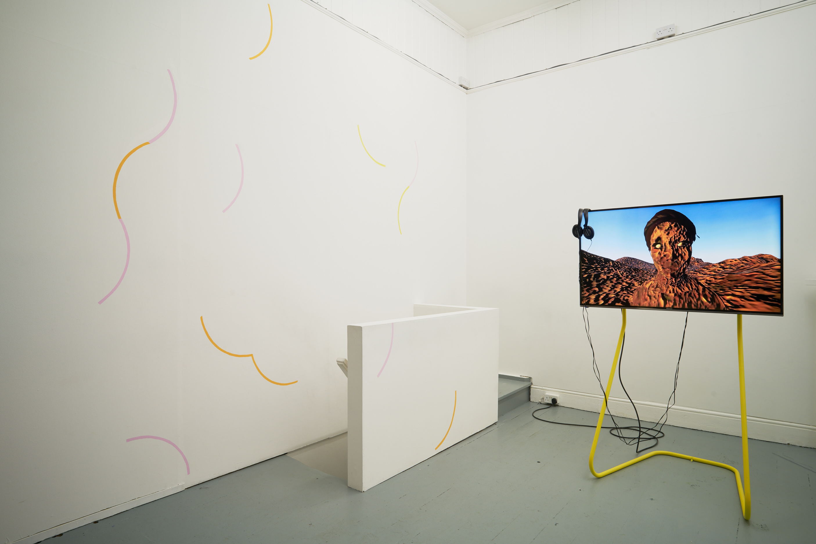 Rehana Zaman, Tell me the story Of all these things (2016). Installation view. Tenderpixel.