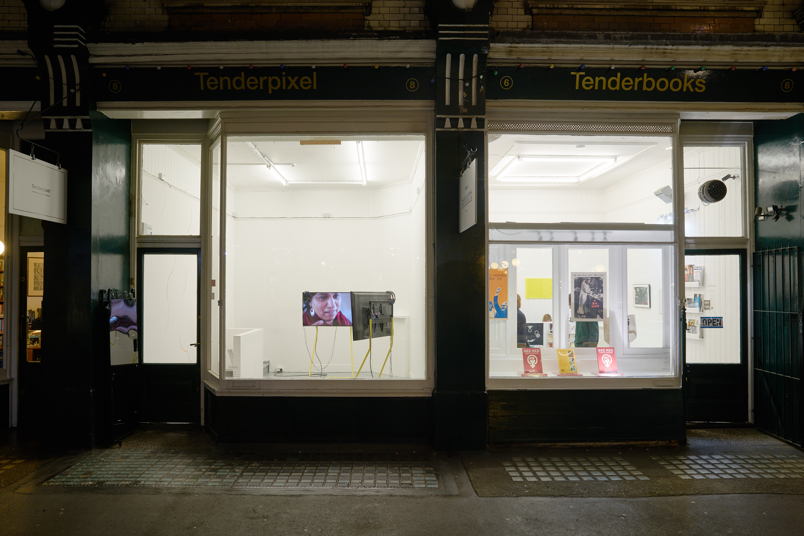 Tenderpixel and Tenderbooks, 2016. View from Cecil Court.