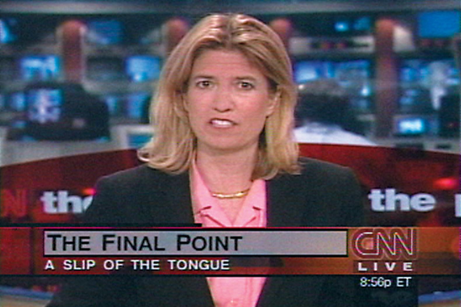 Omer Fast, CNN Concatenated, 2002, video still.