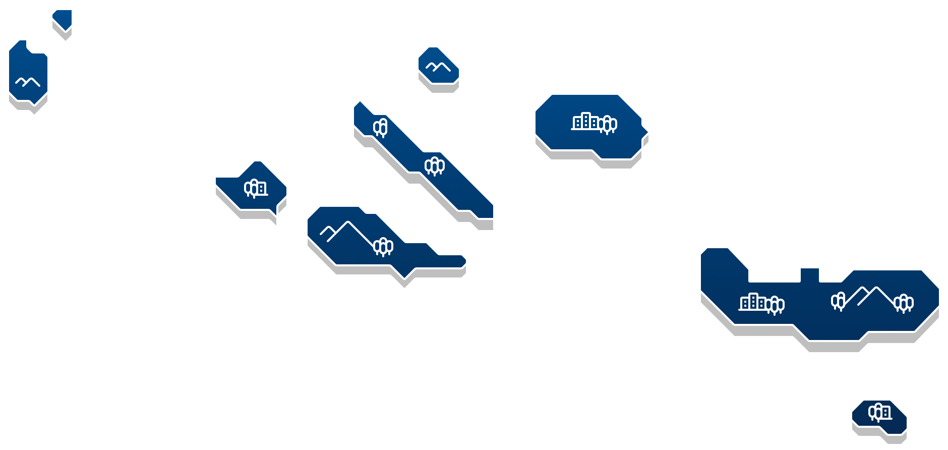 Illustration of the Azores Islands