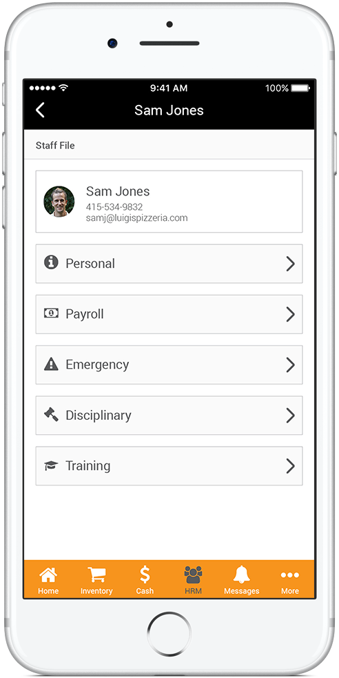 Full Human Resource System Screenshot
