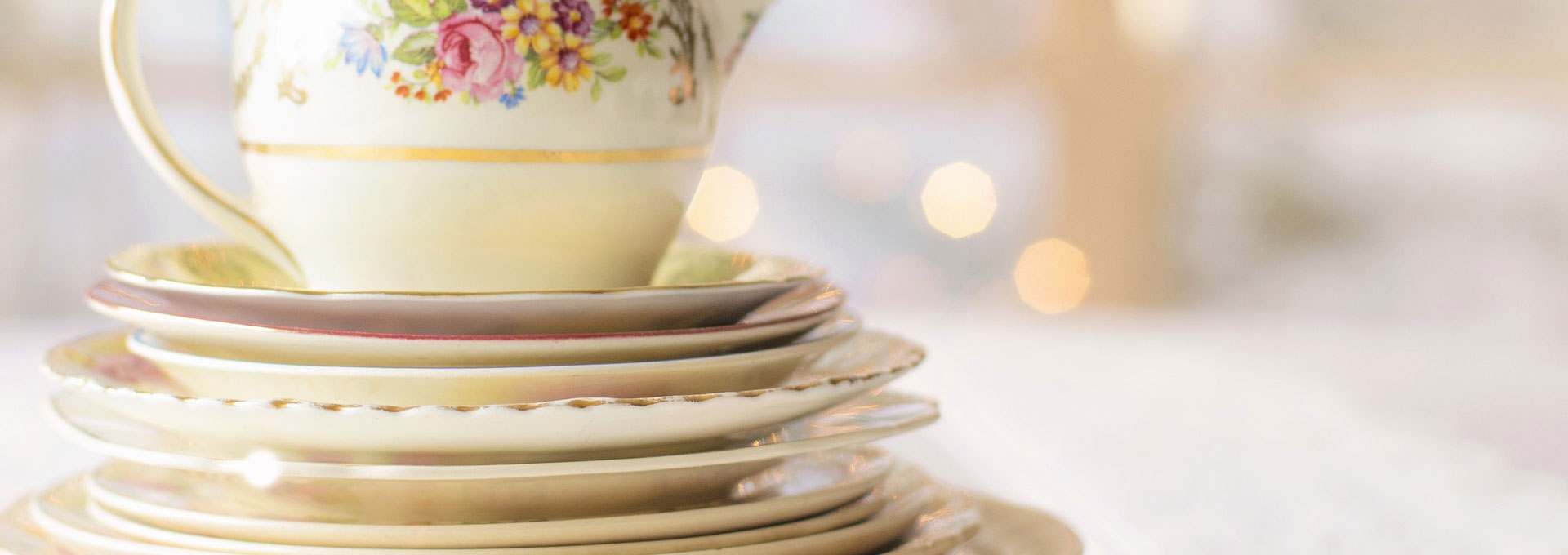 Pack fine china for moving