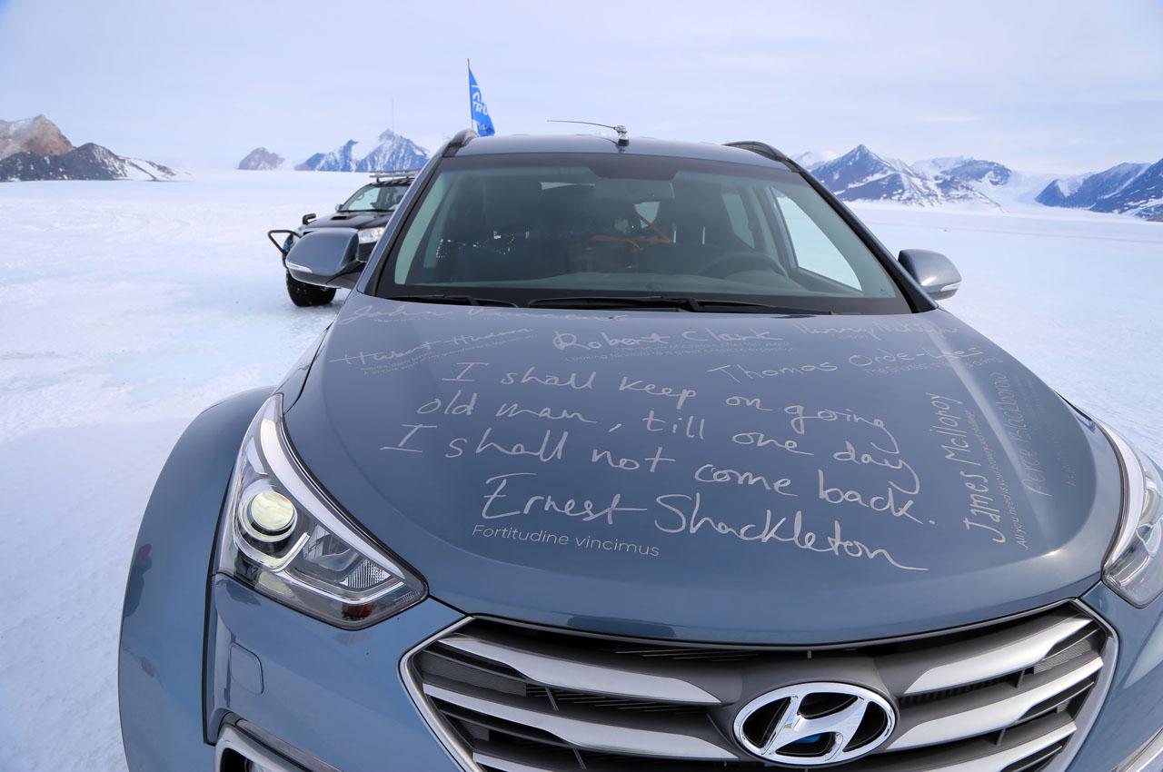 """Hyundai Santa Fe á 38"""" fyrstur yfir Rossíshelluna"""