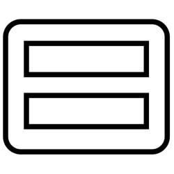 toaster slice opening size icon