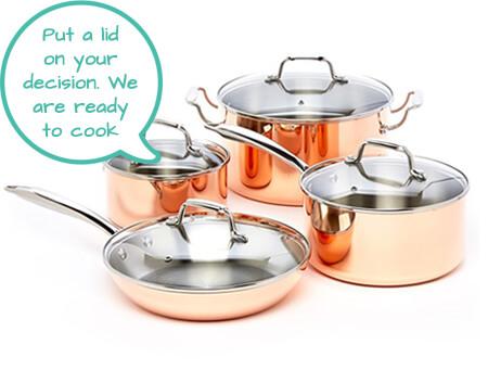 Best copper pan set - Excelsteel - Second Image