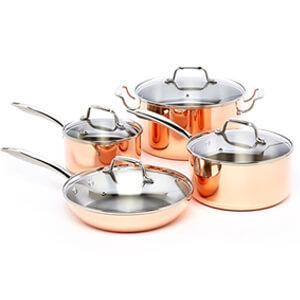 Best copper pan set - Excelsteel - bottom Image