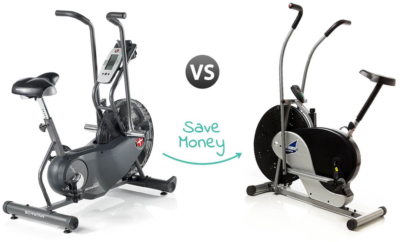 Indoor Cycling Bike - Schwinn AD6 Airdyne and Body Rider Fan Bike