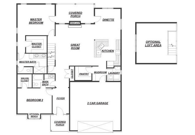 open house floor plan