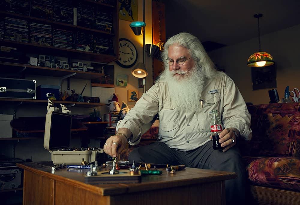 Un sosia di Babbo Natale - Progetto fotografico