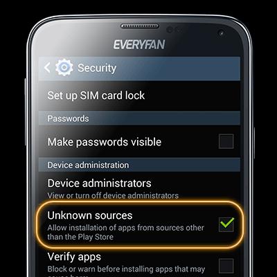 Modify settings to allow installation