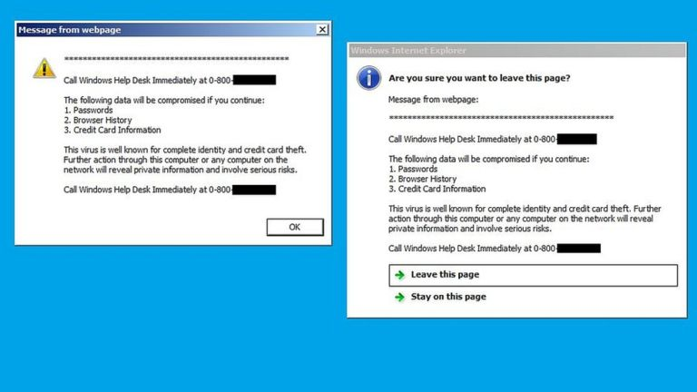 Scareware messages are designed to spook novice users