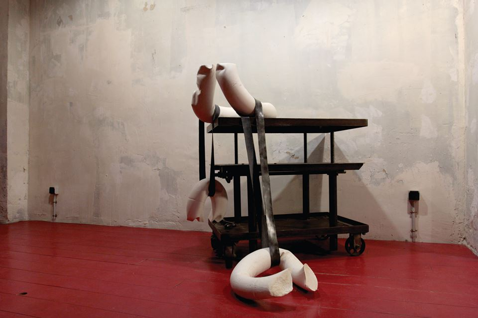 Laocoon - Camille Le Chatelier, plaster  and ruber, 2015
