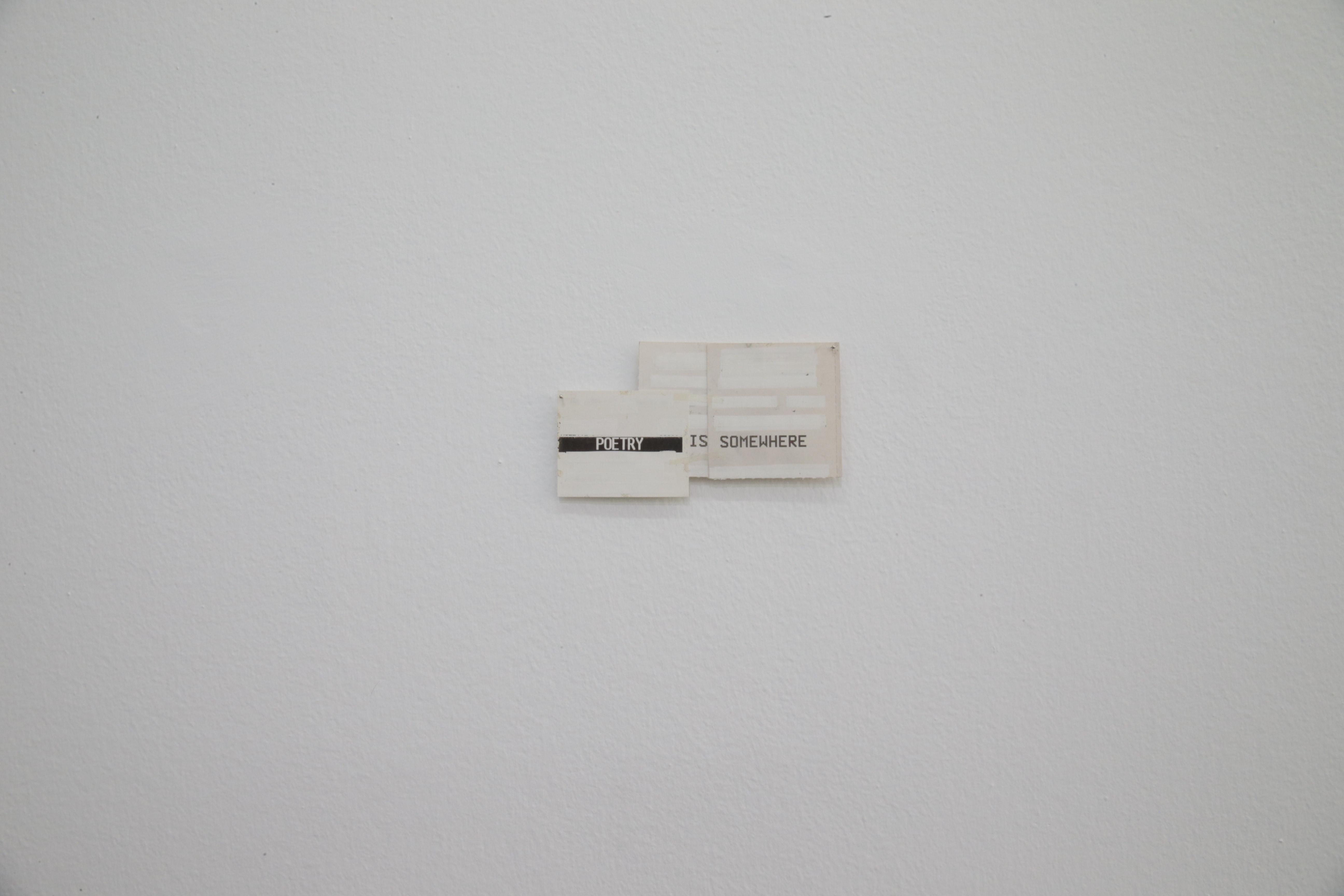 Florian Cochet - Cinema - Corrector fluid on cinema tickets, pins, 5 x 6 cm, 2011