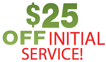 Special pricing for your initial landscaping service