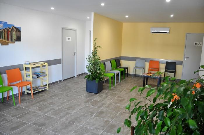 salle d'attente du pôle santé de marguerittes