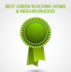 Announcement of award for green building