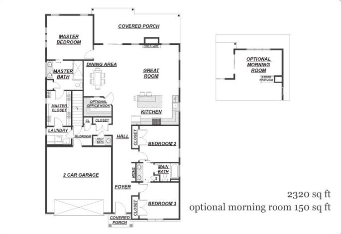 166 Nicole Court Floor Plan