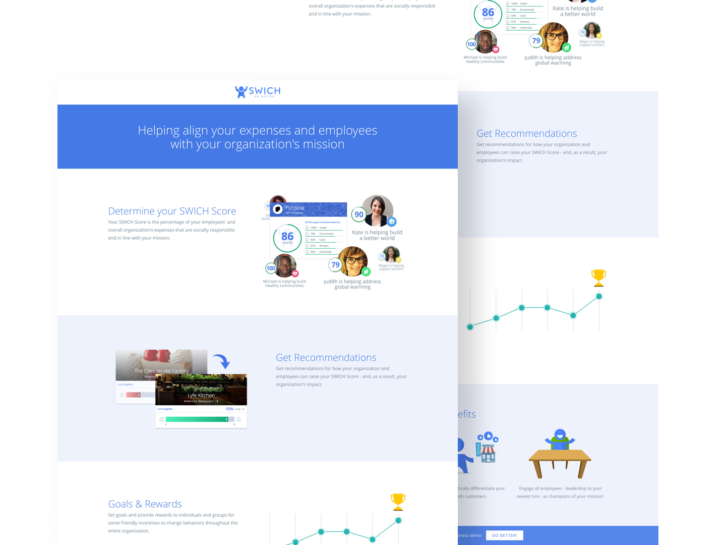 Landing Page Design: Switch
