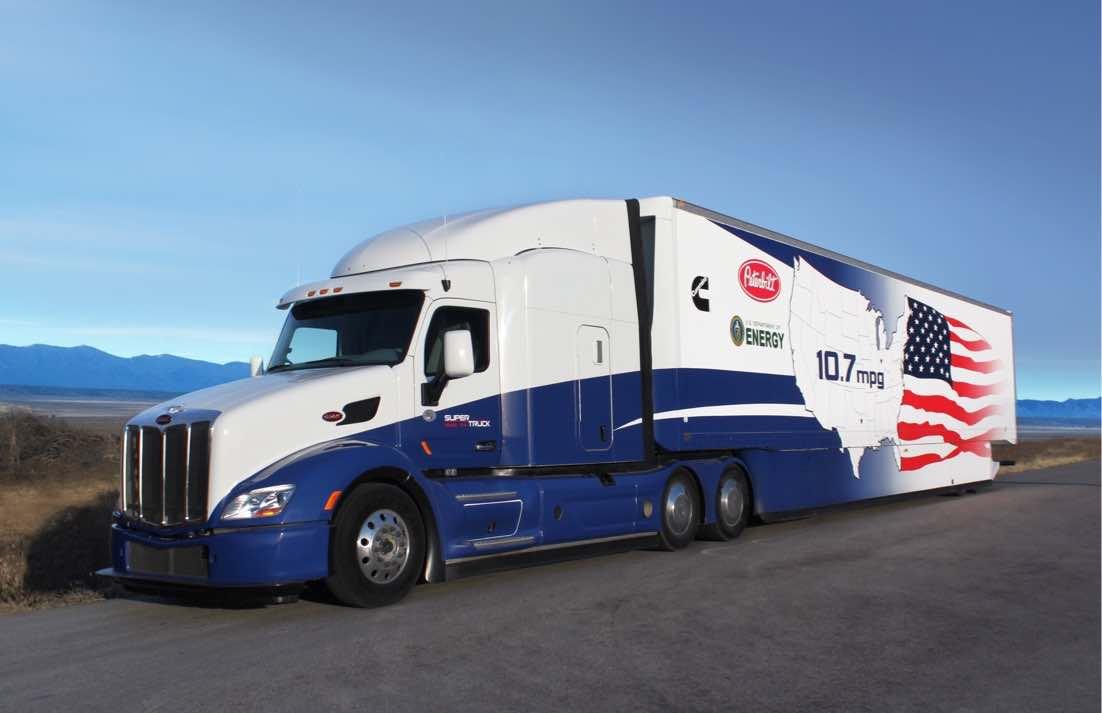 Супер-грузовик Peterbilt 2014 показатели эффективности грузовых перевозок