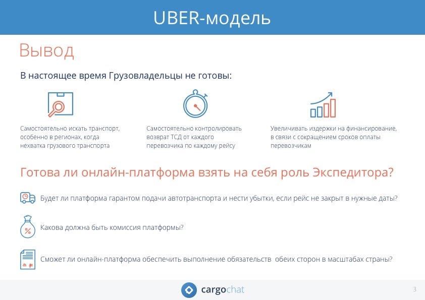 Uber-модель, грузовладельцы, экспедиторы, нехватка транспорта, повышение контроля и издержек