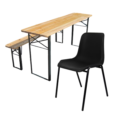 Plastic Chairs / Site Tables & Bench
